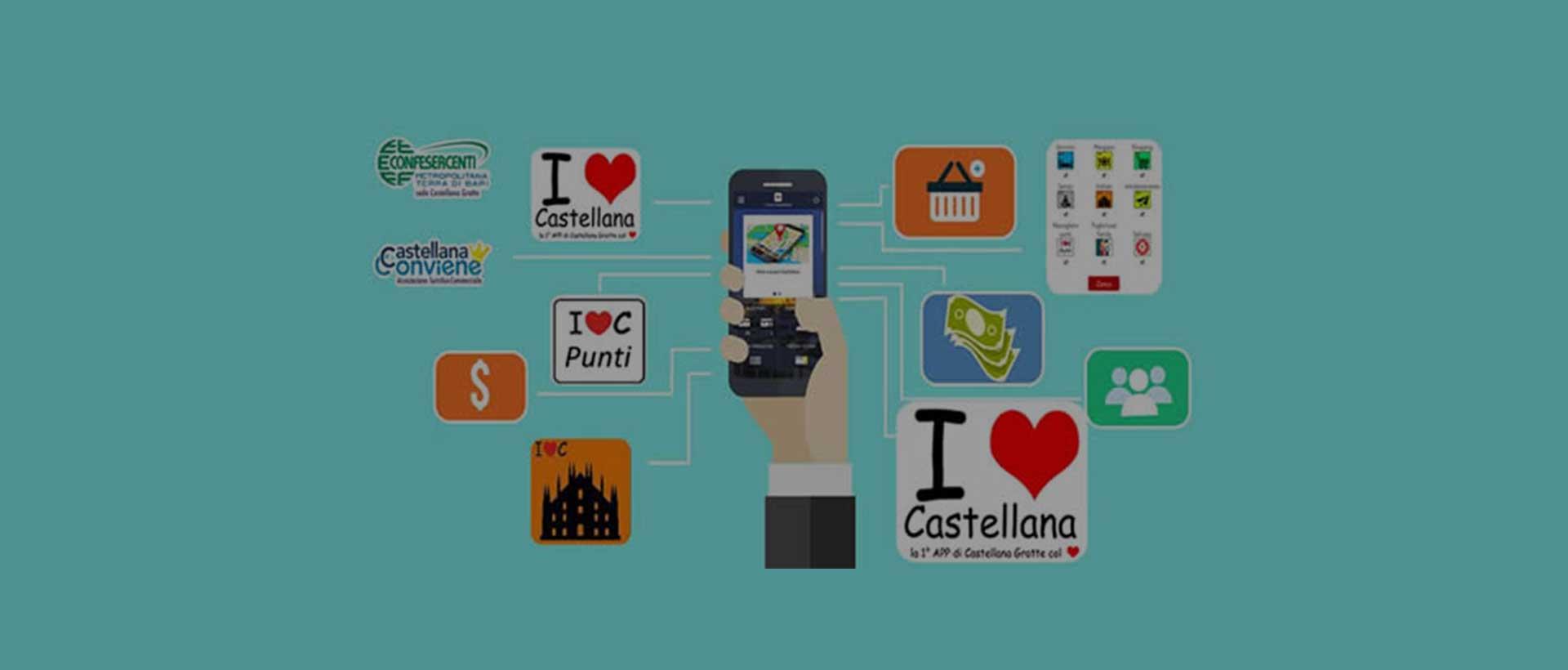 La prima app di Castellana Grotte col <i class=